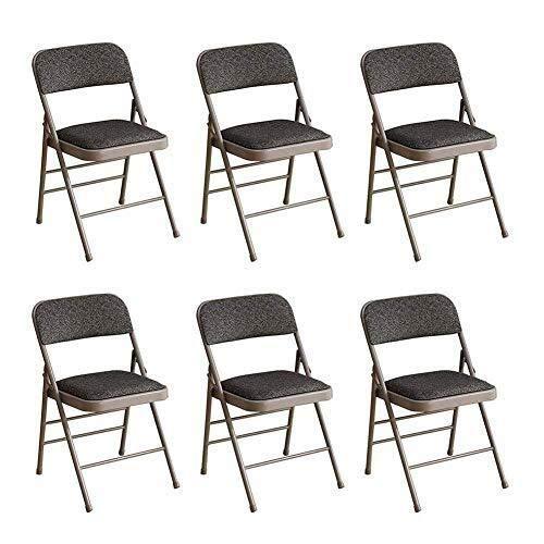 Bürostuhl Klappstuhl Büro Rückenlehne 6Er-Pack, Soft Cush Meeting Stuhl Metallrahmen Tragbarer Pu-Gepolsterter Schreibtischstuhl