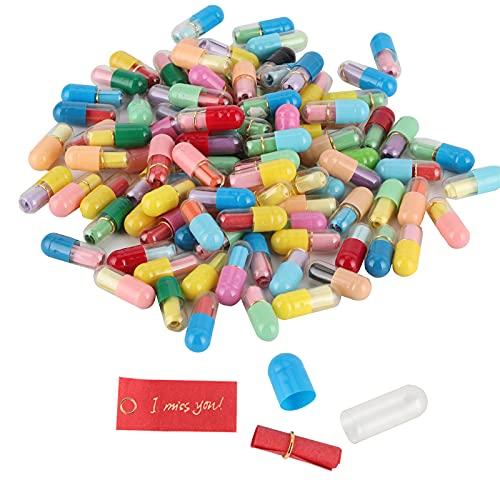 Pssopp Cápsula 100 Uds, Letras, Mensaje, Carta, Amor, Amistad, píldora, píldora de Medio Color para Regalo de cumpleaños del Día de San Valentín
