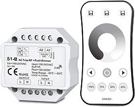 Show Anna822 240 V, Intensidad Regulable, con Mando a Distancia, Regulable, 2,4 G Tama/ño Libre Regulador de Intensidad de luz LED