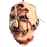 <span class='highlight'><span class='highlight'>FlowersSea</span></span> Halloween Props Horror Hanging Severed Head Latex Gruesome Zombie Decapitated Head With Hair Bloody Scary Halloween Decoration Adult Size (Horror Head 04)