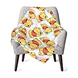 Winnie The Pooh Love Unisex Baby Receiving Blankets Boy and Girls Plush Soft Warm Blankets for Cribs, Strollers,Trave ,Newborns 40 X 30 Inches Multi-Use Microfiber