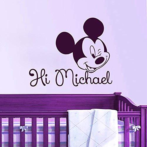 Hetingyue Home Decoration Creative schattige naam Custom Cartoon Mouse Kids Naam Wall Sticker