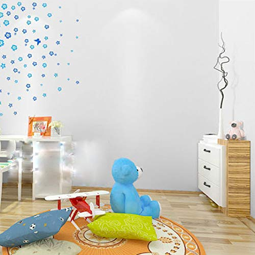 Wolpin Wall Stickers Wallpaper (45 x 600 cm) Solid Colour Home Renovation DIY Project, Gift Wrapper, Furniture, Fridge, Refrigerator, Kitchen Cupboard, Stove Backdrop, White