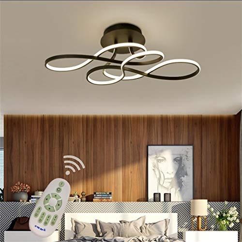 LED Lámpara de Techo Salon Moderno Luz de Techo Regulable con Mando...