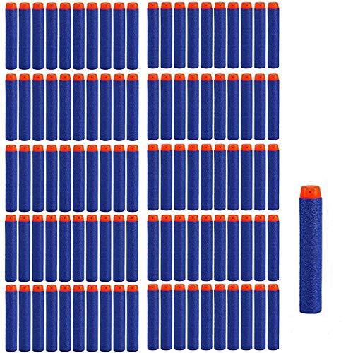 StillCool Dardi Proiettili, Munizioni a Freccette Compatibili con Tutte Le Pistole Giocattolo 7.2cm Schiuma Freccette Ricariche Dardi Proiettili (100 pzs)