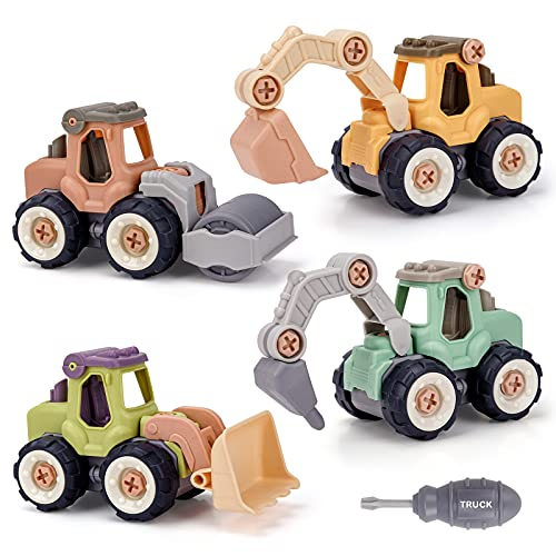 Toy Cars for 2 3 4 Year Old Boys,Construction Toys Age 3 4 5 Year Old Boy...