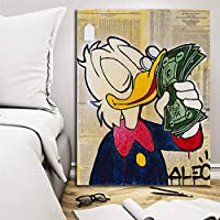 キャンバス塗装 ぶら下げ画 で現金油絵を印刷リビングルームのホームインテリア現代壁のアートポスターの写真はありませんフレームダック (Size (Inch) : 20x27 inch)