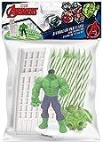 Dekora - Marvel Hulk Figur für Torte mit Kerzen - Hulkfigur, 10 Geburtstagskerzen und Gebäude, mehrfarbig, 350141