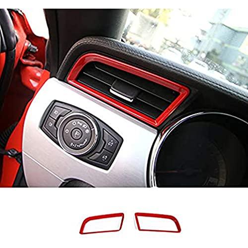 YFBB Marco de ventilación del Tablero de Instrumentos de Fibra de Carbono, Cubierta del Bisel, Material ABS, Accesorios de Estilo de Coche para los Adornos Interiores de Ford Mustang 2015-2020