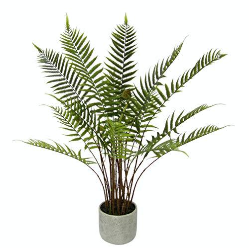 Flair Flower Künstlicher Waldfarn im Topf Baum Kunstpflanze Grünpflanze Topfpflanze Unechte Dschungel Pflanze Strauch Kunstblume Farnbusch, grün, 80 cm