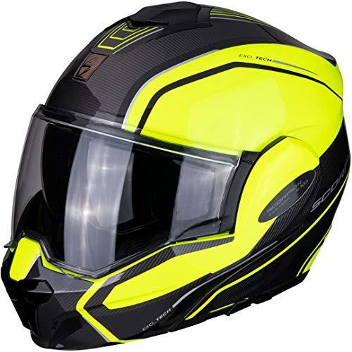 Scorpion Motorradhelm EXO-TECH TIME-OFF Neon Yellow/Silver XL Nero/Blu/Bianco