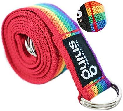 Gurus Adjustable Vine Sling Yoga Strap for Stretching Yoga Mat Sling Carrier Rainbow product image