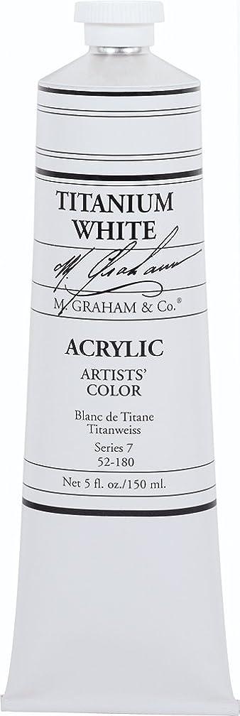 M. Graham 5-Ounce Tube Acrylic Paint, Titanium White