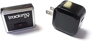 [セット品] 2点セット Trackimo(トラッキモ) 小型GPSトラッカー [TRKM-010] リアルタイム追跡GPS発信機 + USB充電器