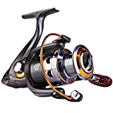 Sougayilang Spinning Fishing Reels Smooth 11BB for Inshore Boat Rock Freshwater Saltwater Fishing-DK4000