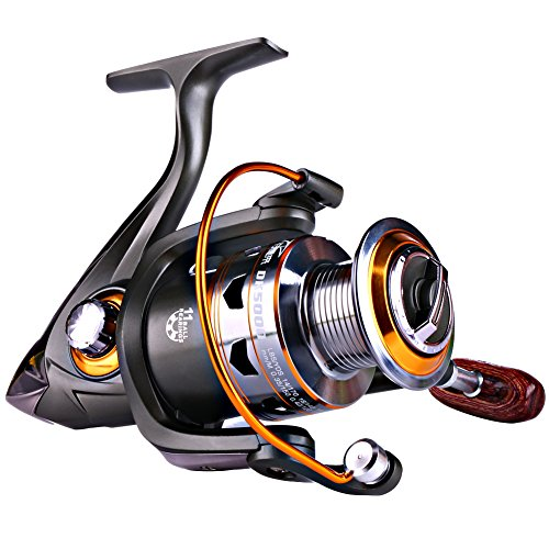 Sougayilang Spinning Fishing Reels Smooth 11BB for Inshore Boat Rock Freshwater Saltwater Fishing-DK1000