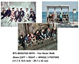 BigHit Entertainment BTS Bangtan Boys - You Never Walk Alone [Left + Right + Wings] 3 Posters(42 x 29.7cm)