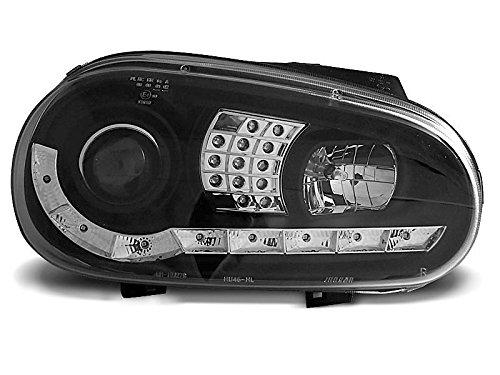 1 paar koplampen Golf 4 97-03 Daylight LED zwart knipperlicht LED (WB2)