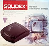 Solidex Video Cassette Rewinder Model: 7000XT---2 Way Auto Stop/Eject System w/Rewind Button, Stop/Eject Button/ Fast Forward Button w/Timer Counter