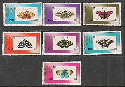Mongolia 1990 Butterfly Butterflies Fauna Insects Stamp Set 7v Stampbazar