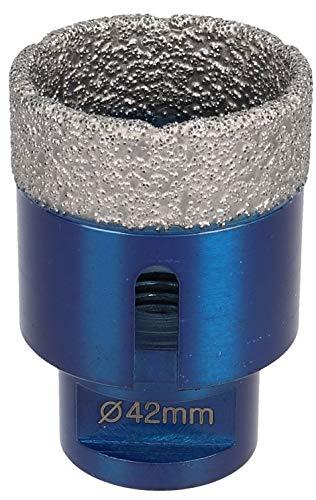 PRODIAMANT Premium diamantboorkroon tegel/fijnsteengoed M14 geschikt voor haakse slijpers 42mm blauw