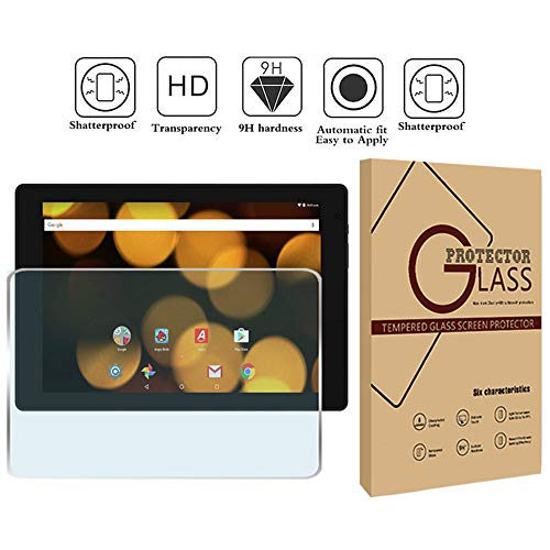 FINDING CASE Argos Bush 10 inch Tablet - Premium Tempered Glass Screen Protector Film Cover 9H Hardness Anti-Scratch Bubble-Free Ultra Clear