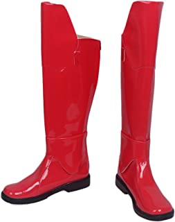 Praetorian Guard Boots Deluxe Red PU Shoes Adult Cosplay Costume Accessory Prop