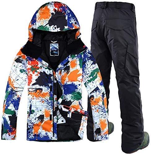 CNGYY Inverno Uomo Sport Tempo Libero Tuta da Sci Professionale Antivento Impermeabile Doppia tavola Abbigliamento Snowboard XL