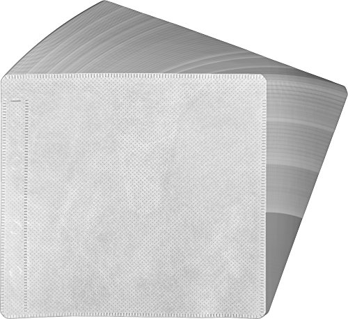 (100) White 2-Disc CD DVD Fabric-Lined Ring Binder Wallet Sleeves CRY-2SVWH (Holds 50 Discs, Pages, Holder, Carrier, Case)