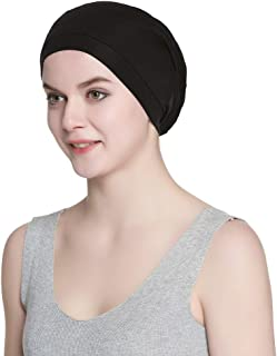 Alnorm Cozy Satin Lined Slouchy Beanie Cap with Soft Elastic Band for Men & Women