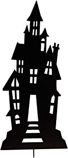 Collections Etc Haunted House Metal Halloween Garden Stake That is Almost Three Feet Tall for a Festive Display