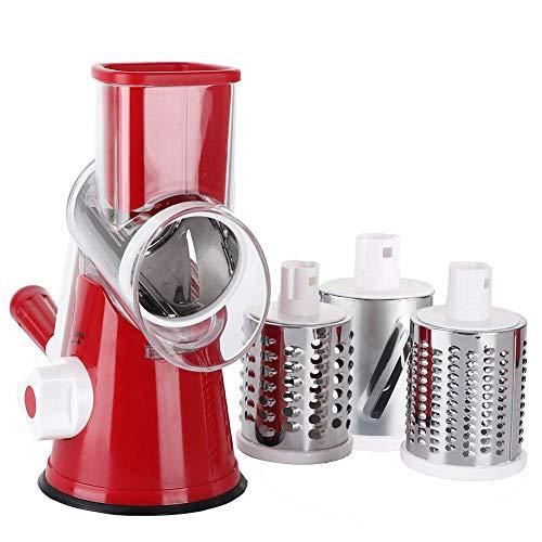 [Alta qualità] – I tre diversi taglienti estremamente affilati per cilindri rotondi in acciaio inox per alimenti sono rimovibili, in modo da essere facili da pulire e lavabili in lavastoviglie. [Senza fatica e sicuro] – Con un imbuto grande e lame af...