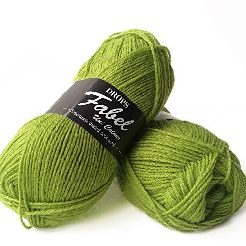 Superwash Socken-Wollmischung, buntes Garn, Tropfen Fabel, 1 oder Superfein, Griffgewicht, 4-lagig, 51 g, 224 Meter pro Knäuel (112 Apfelgrün)