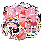 Vsco Girls Stickers for Water Bottles Big100-Pack, Waterproof Stickers for Hydro Flask, Laptop, Phone, Travel Extra Durable(100% Vinyl Peppa Pig Decals)