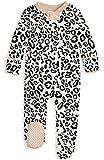 UNIFACO Baby Girls Footies Bodysuits Long-Sleeve Zipper Onesie with Mitten Cuff Bodysuit for Shower Gift