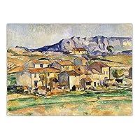 JLFDHR 家の装飾アート壁の写真ポスターキャンバス絵画フランスのポールセザンヌ風景-60X80Cmx1フレームなし