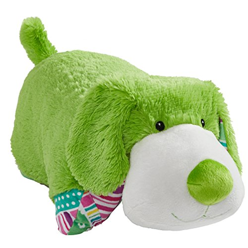 Pillow Pets Colorful Lime Green Puppy - 18' Stuffed Animal Plush Toy