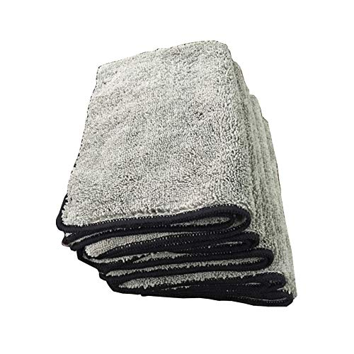 """kaaka 1Pc Super Soft Water Absorption High Friction Microfiber Towel Car Washing Window Cleaning Polishing Cloth Household Daily Necessities Multipurpose Towel 11.81"""" x 15.75"""" Grey"""