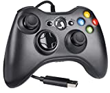 Y-Team Wired Controller for Xbox 360, Wired Game Controller Gamepad Joystick USB for Xbox 360/Xbox 360 Slim/PC/Windows 7 8 10 with Dual Vibration (Black)