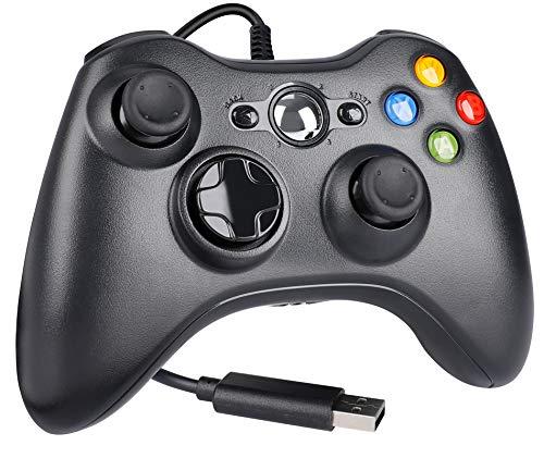 Controlador para Xbox 360, WeiCheng gamepads USB jogo joysticks com fio controlador de jogos para PC laptop/Windows 7 8 10/Xbox 360/Xbox 360 Slim