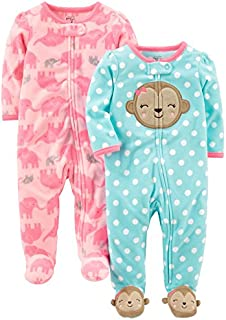 Simple Joys by Carter's Baby Girls' 2-Pack Fleece Footed...