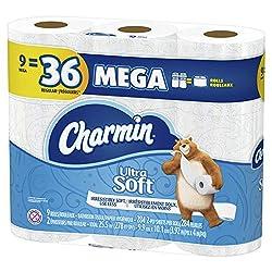 Charmin Mega Rolls, 9 Count