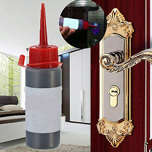Lubricante en polvo de grafito de 60 ml para el candado principal de la puerta Core Nano, lubricante de grafito, accesorios de cerradura, candado Tamaño libre Negro