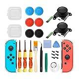6amLifestyle 2 Recambios de Joystick Analógico 3D para Joycons Nintendo Switch Joysticks Compatibles con JoyCon Derecho e Izquierdo con Herramientas de Reparación Profesional (25 Piezas)