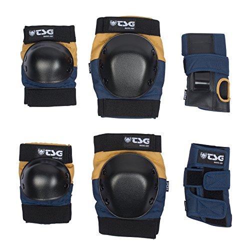 TSG Erwachsene Basic-Set Schützer, Night Blue-Dusk Yellow, S