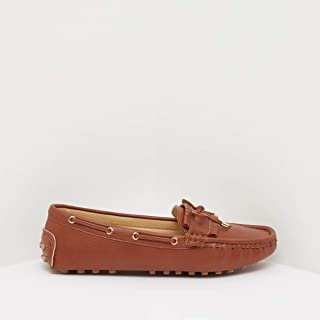 Shoexpress Bow Detail Moccasins with Side Lacing