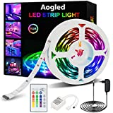 Aogled LED Streifen 5m,RGB LED Strip Lichterkette 12v...