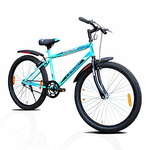 Leader Scout MTB 26T Mountain Bike Without Gear Single Speed Bicycle for Men - Sea Green, Ideal for 10 + Years 18 inch Frame