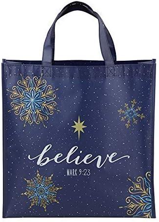Autom Believe Laminated Tote Bag - 12/pk