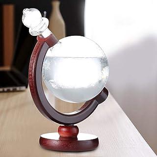 Galileo//Glasthermometer auf Holz maritime-deco Wetterglas